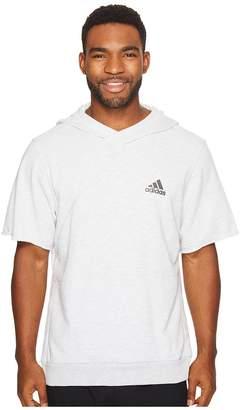 adidas Cross Up Short Sleeve Hoodie Men's Sweatshirt