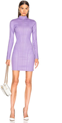 Thierry Mugler Long Sleeve Sport Dress in Lilac | FWRD