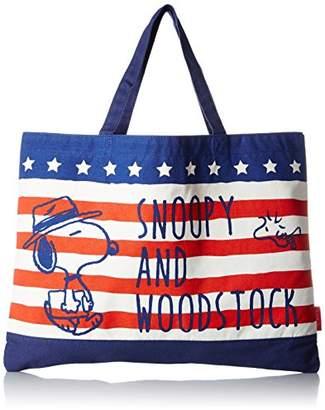Snoopy [スヌーピー(ピーナッツ)] トートバッグ B4対応 45286 BL ブルー/レッド