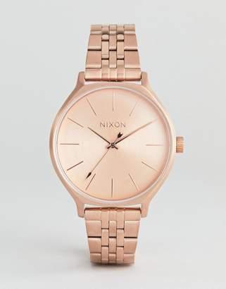 Nixon A1249 Clique Bracelet Watch In Rose Gold 38mm