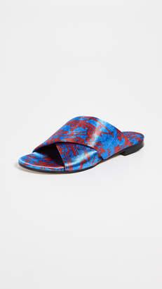 Avec Moderation Honolulu Crisscross Slide Sandals