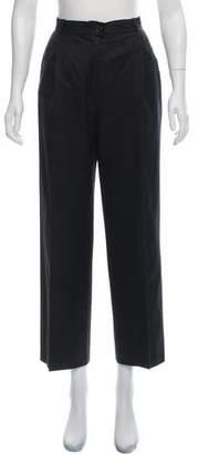Salvatore Ferragamo High-Rise Cropped Straight-Leg Pants