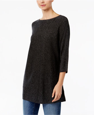 Eileen Fisher Three-Quarter-Sleeve Tunic Sweater $238 thestylecure.com
