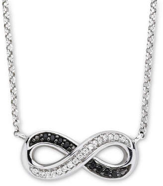 Black Diamond FINE JEWELRY Infinite Promise 1/10 CT. T.W. White & Color-Enhanced Necklace