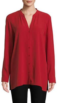 Eileen Fisher Long-Sleeve Silk Top
