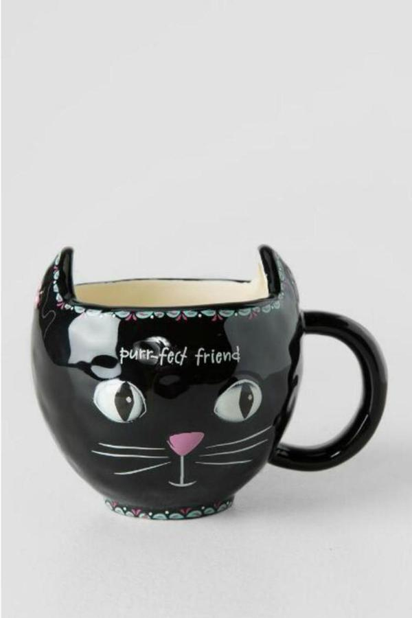 Natural Life Black Cat Mug