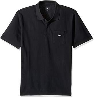Obey Men's Jumble Regular Fit Short Sleeve Polo