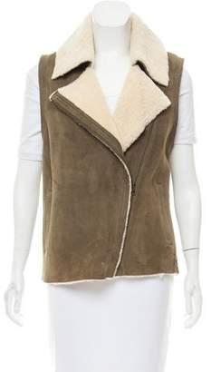 Vince Shearling Moto Vest