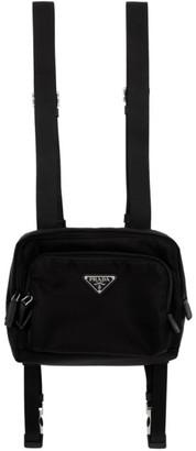 Prada Black Nylon Harness Backpack