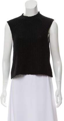 Rag & Bone Cap Sleeve Cable Knit Top