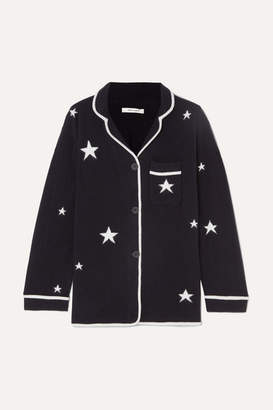 Chinti and Parker Star Cashmere Pajama Top - Navy