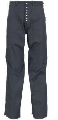 Blend of America Kiko Kostadinov triple dart reversible cotton trousers