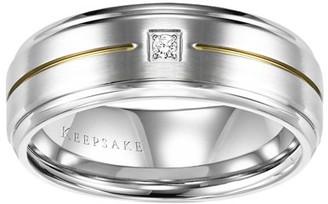 Keepsake Callum Diamond Accent Stainless Steel Band, 8mm
