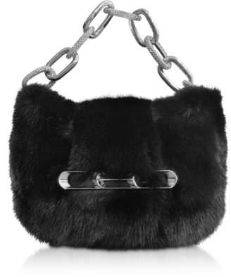 Alexander Wang Fur Micro Mini Bag w/Chain Strap
