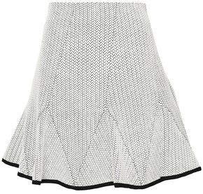 DKNY Pleated Cotton-blend Jacquard Mini Skirt