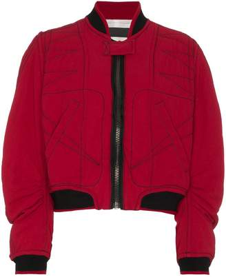 ... Haider Ackermann quilted cotton bomber jacket