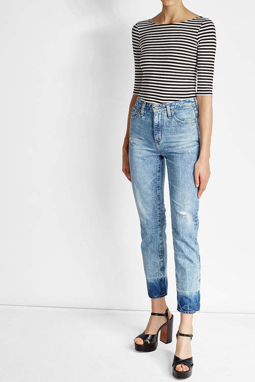 Adriano GoldschmiedAdriano Goldschmied Distressed High Waisted Jeans
