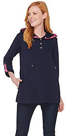 Susan Graver Weekend French Terry A-Line Tunicwith Buttons