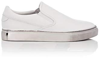 Badgley Mischka Badgley & Mischka BADGLEY & MISCHKA MEN'S MARTIN LEATHER SLIP-ON SNEAKERS