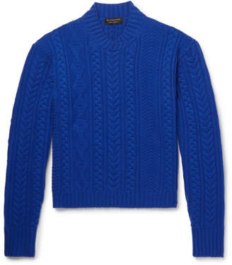 Burberry Aran-Knit Wool and Cashmere-Blend Sweater