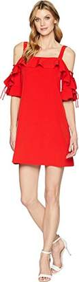 Laundry by Shelli Segal Women's Lace up Sleeve Dress