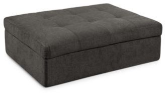 "Damon Fabric Ottoman, Storage 48""W x 36""D x 17""H"