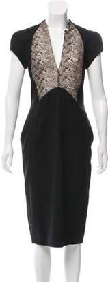 Antonio Berardi Lace-Trimmed Midi Dress