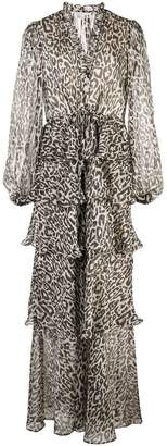 Shona Joy leopard print layered dress