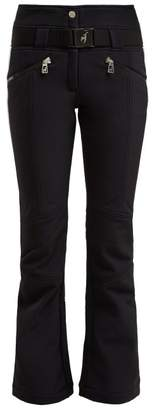 Toni Sailer - Anais Tuxedo Stripe Belted Ski Trousers - Womens - Black