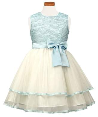 Sorbet Tiered Lace & Tulle Dress