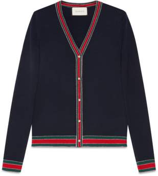 Gucci Merino wool knitted cardigan