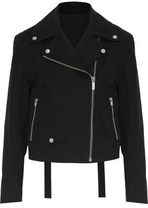 Helmut Lang Stretch-Cotton Biker Jacket