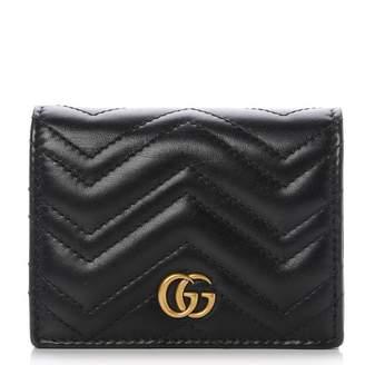 Gucci Marmont Card Case Matelasse GG Black