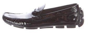 pradaPrada Patent Leather Round-Toe Loafers