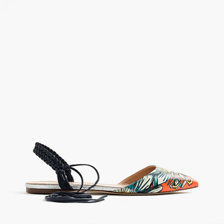 Slingback flats in punchy floral $188 thestylecure.com