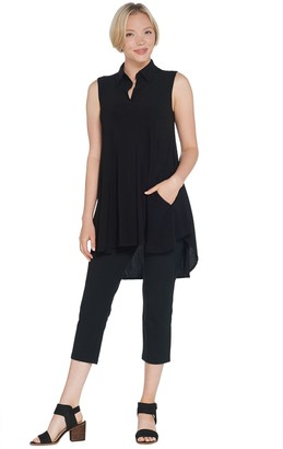 Women With Control Women with Control Regular Sleeveless Como Tunic & Crop Pants Set