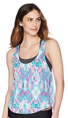 Coastal Blue Women's Standard 2 for 1 Apron Back Tankini Top