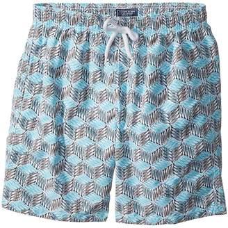 Vilebrequin Kids Fishes Cube Swim Trunk Boy's Swimwear