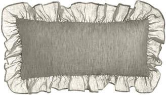 "Pine Cone Hill Savannah Ruffled Double Boudoir Pillow, 15"" x 35"""
