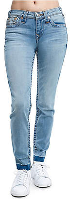 True Religion SUPER SKINNY FIT FRAY ANKLE JEAN