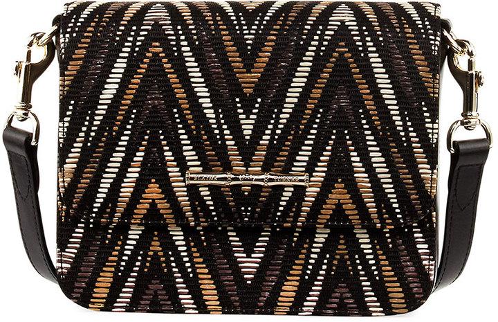 Elaine Turner Brie Fabric Crossbody Bag, Black/Multi