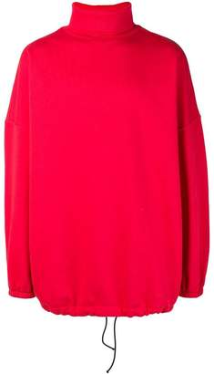 Balenciaga oversized red sweatshirt