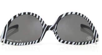 Mykita + Martin Rose SOS Reversible Striped Acetate Sunglasses