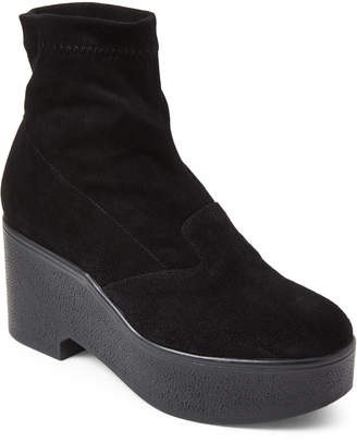 Robert Clergerie Black Xupn Stretch Platform Ankle Booties