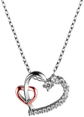 SPARKLE ALLURE Sparkle Allure Cubic Zirconia Bronze 18 Inch Cable Pendant Necklace