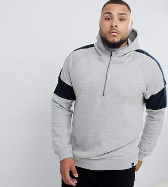 ONLY & SONS Half-Zip Hoodie With Arm Stripe