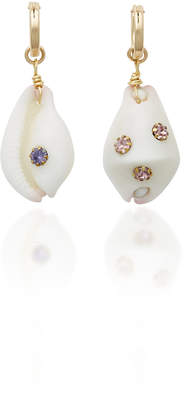 Eliza J Brinker & Georgica Gold-Plated Shell and Multi-Stone Earrings