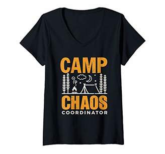 Chaos Womens Camping Shirt Camp Coordinator Hiking Adventure Gift V-Neck T-Shirt