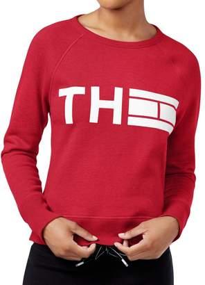 Tommy Hilfiger Womens Graphic Crew Neck Sweatshirt Red XL