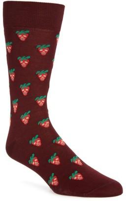 Men's Paul Smith Mini Strawberry Crew Socks $30 thestylecure.com